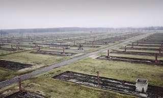 סיור אווירי מעל מחנה אושוויץ
