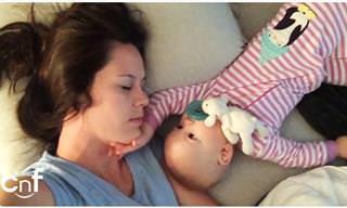 למה קשה לישון עם תינוק? אל תפספסו את הסוף של הסרטון הזה!