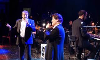 ששי קשת ודודו פישר במחרוזת שירים ביידיש