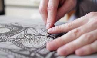 תהליך היצירה של הדפס צבעוני מדהים!