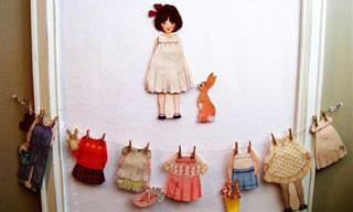 12 הדפסי בובות להלבשה עבור הילדים
