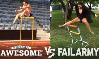 ההבדל הקטן שבין הצלחה לכישלון, סרטון פעלולים מצחיק במיוחד!