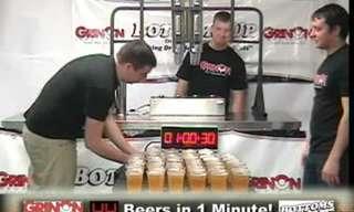 איך ממלאים 42 כוסות בירה בדקה??