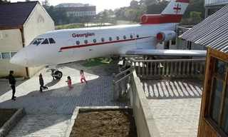 מטוס ישן הוסב להיות גן ילדים