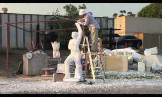 מהמחצבה לתצוגה - כך יוצרים פסלי שיש!