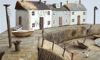 14 תמונות של יצירות קסומות ודגמים מיניאטוריים מעצי סחף