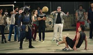 סמוראי בתרגילי כדורגל