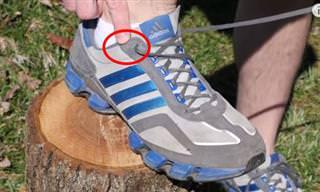 """תפקידו של חור השרוכים """"המיותר"""" בנעל הספורט"""