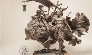 פסלי החרס המרהיבים של יואן שינג ליאנג