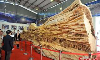 שיא גינס: פסל העץ הגדול בעולם