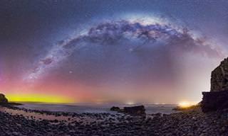 תמונות מדהימות של שמי הלילה זרועי הכוכבים בניו זילנד