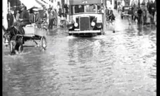 תיעוד נדיר: נזקי סערת גשם שפגעה בתל אביב בשנת 1938