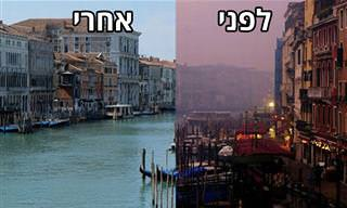 תמונות לפני ואחרי הסגר שמראות את השפעתנו על זיהום האוויר