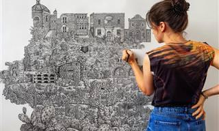 17 תמונות מדהימות של ציורים ענקיים ומפורטים להפליא