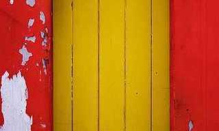 דלתות צהובות - עיצוב עליז ומסביר פנים!