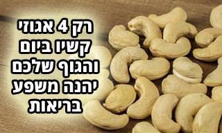 9 דברים שיקרו לכם כשתאכלו 4 אגוזי קשיו ביום