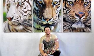 יצירותיו המדהימות של האמן הצעיר שמצייר חיות מציאותיות ומרהיבות