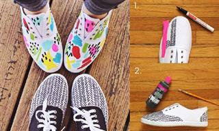 18 טריקים מגניבים לנעליים ולרגליים