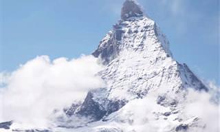 לגעת בעננים: צפו בנופי הר המטרהורן על גבול שוויץ-איטליה