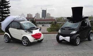 עיצובים מוזרים של מכוניות חתן-כלה
