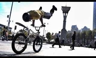 פעלולי פארקור ואופניים עוצרי נשימה