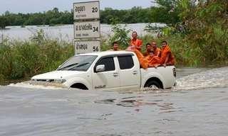 תיאלנד מוצפת - מדינה מתחת לקו המים!