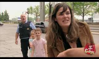 מתיחה מצחיקה על שוטרים מקפצים