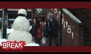 איש השלג צופה בכם - מתיחה קורעת!