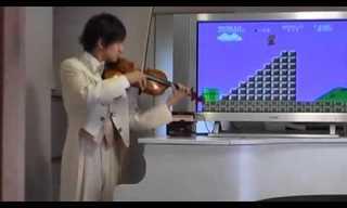 כנר מדהים מנגן את סופר מריו!