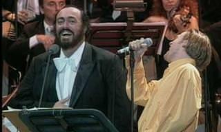 דואט לשיר 'O sole mio של לוצ'אנו פבארוטי ובריאן אדמס