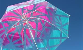 8 רעיונות עיצוב מקוריים למטריות