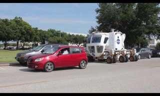 הפיתרון של נאס``א למצוקת החניה - מצחיק!