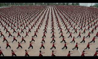 אימון קונג פו מדהים של 36,000 ילדים