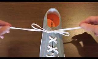 קשירה פשוטה וגאונית לשרוכי הנעליים