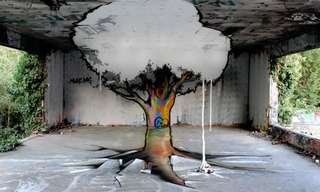 העץ המשוגע - ציור קיר מתעתע!