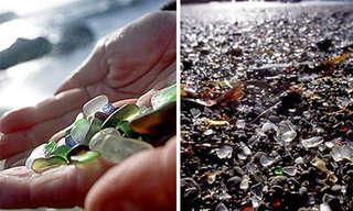 כשהטבע פותר את שהאדם עשה - חוף הזכוכית!