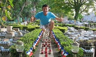 אדם בנה לבדו דגם זעיר של פריז בחצר ביתו!