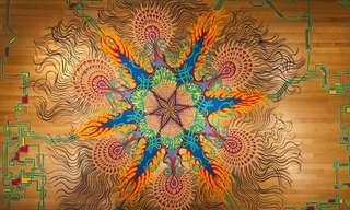 אומנות החול הזמנית - יצירה מדהימה