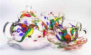 21 ציורי זכוכית מדהימים ביופיים