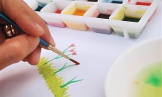צבעי מים טבעיים ובטוחים לשימוש עבור ילדים צעירים להכנה ביתית