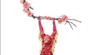 14 יצירות אמנות עשויות פרחים של האמן ראקו אינוואה