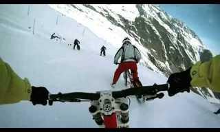 מירוץ אופניים במורד קרחון - מטורף!