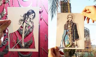 המעצב המוכשר הזה משלב אופנה ואדריכלות בסדרת תמונות נפלאה!