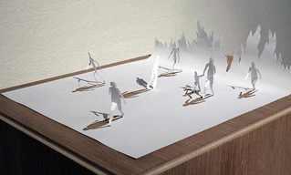 קיפולי נייר יוצרים פסלים תלת מימדיים מדהימים