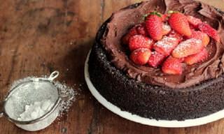 מתכון לעוגת שוקולד נפלאה ללא חלב וללא ביצים