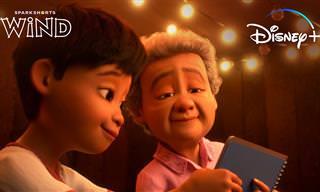 """""""רוח"""" - סרטון מרגש מבית פיקסר על סבתא ונכד בעולם בדיוני ומוזר..."""