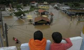 תמונות מהשטפונות בברזיל!