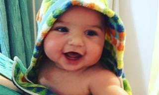 20 תינוקות מחייכים לראשונה בחייהם