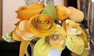 פרחים מקסימים מנייר