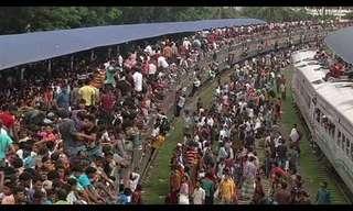 עומס יתר בתחבורה הציבורית בבנגלדש